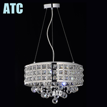 Light up your room hanging crystal glass ball industrial metal pendant light