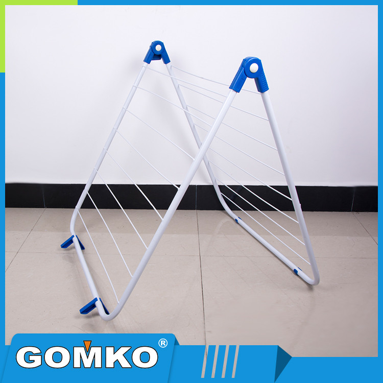 OEM Foldable Metal Pole Outdoor Clothes Hanger Rack With PP Connectors