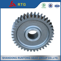 Spur gear with grinding teeth