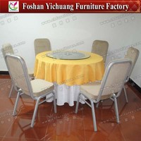 Steel frame foldable cheap table and chair rentals YC-ZL01-04