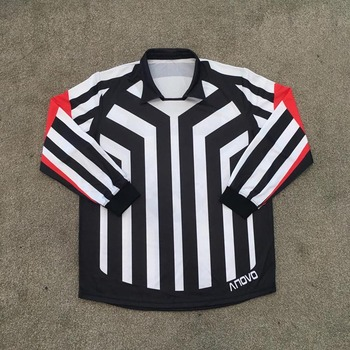 adult blank ice hockey referee jersey for game