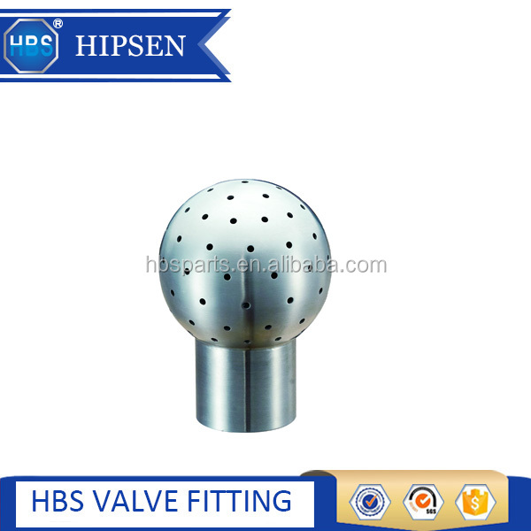 stainless steel sanitary tank 360 deg cleaning fixed bolted spray ball