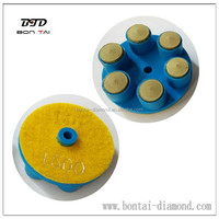 60mm finger resin polish pad for dry concrete