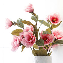 Home& wedding real touch rubber Magnolia decorative artificial table flowers