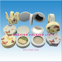 Beautiful Paper Face Powder Compact For Cosmetic Packaging