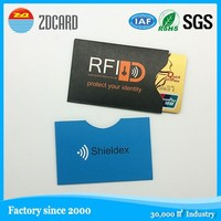 Biggest factory! Aluminum foil card sleeve/Identity Theft Protection /Rifd nfc blocking card sleeve