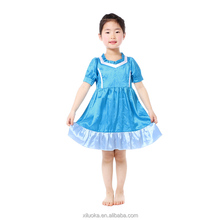 Children satin baby clothes fashion kids party wear girl dress