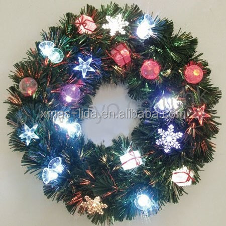 24 lighted outdoor christmas wreaths with colorful plastic ball buy. Black Bedroom Furniture Sets. Home Design Ideas