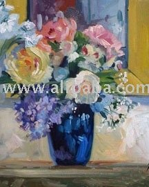 flower knife oil painting/high quality and proper price