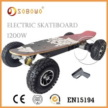 Hot sale Four wheel e skateboard 1200W