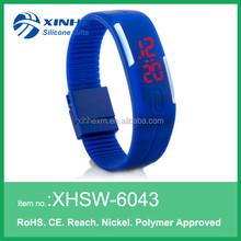 Cool Sport LED Silicone bracelet watch For teenages