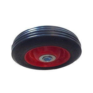 Factory price 6 inch solid rubber metal rim wheel