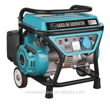 1kw Portable 3hp Gasoline Generator with Small Wheels