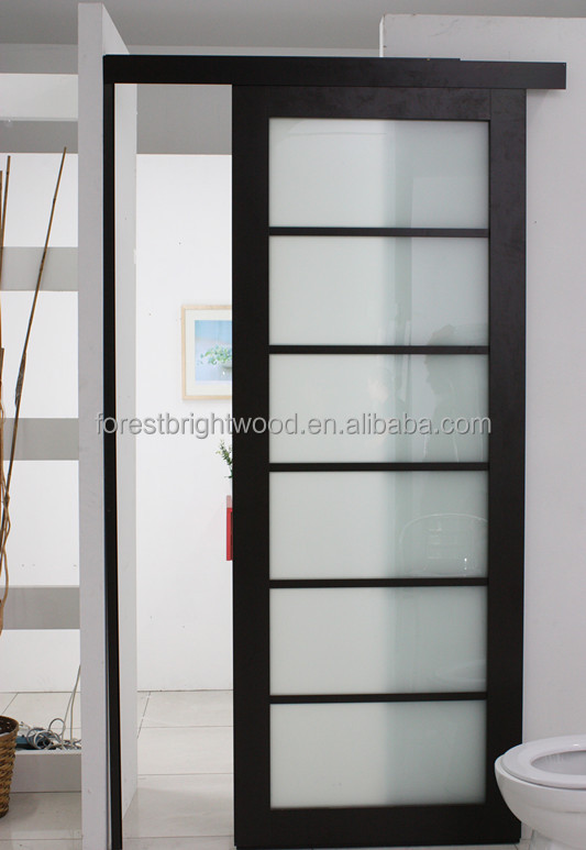 Modern Laminated Glass Hotel Bathroom Sliding Door Design