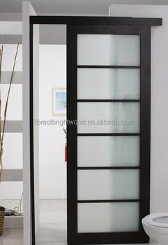 Modern laminated glass hotel bathroom sliding door design