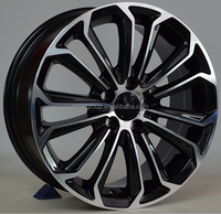 "black 17x7"" replica car wheel rim/ alloy wheel"