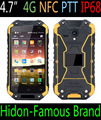 Highton factory 4.7inch 4G NFC IP68 rugged waterproof phone with 1280*720 IPS quad core waterproof phone with 4G LTE IP68 NFC