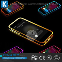 [kayoh]high quality color changing phone case for iphone 6 led phone case for iphone 4 4s 5 5s 6 6s light up phone case