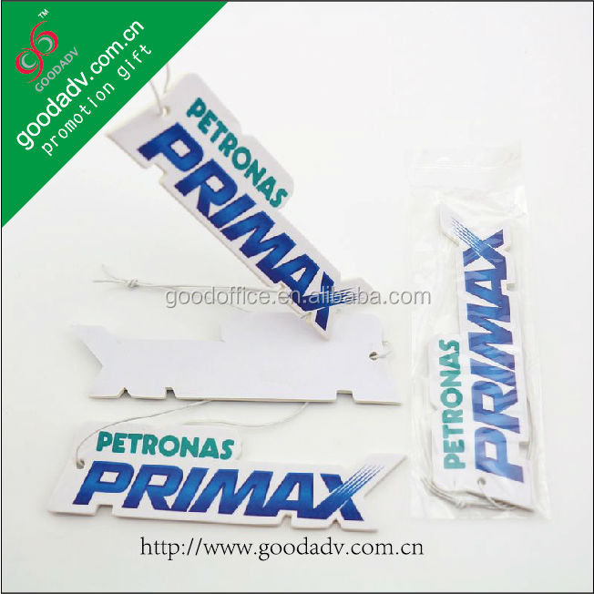 Hanging lasting fragrance paper for promotional products car air fresher