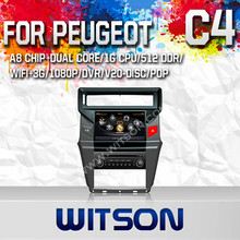 WITSON CAR DVD GPS NAVIGATION FOR CITROEN C4 2012 WITH STEERING WHEEL SUPPORT 1.6GHZ FREQUENCY A8 DUAL CORE CHIPSET