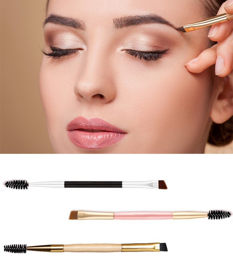 Professional Multifunctional Double-end Makeup brush/Eyebrow brush/Eye shadow brush/Profile brush