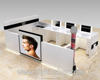China gold supplier wooden beauty salon mall hair dressing kiosk | barber shop furniture design for sale