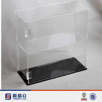 Yageli large transparent acrylic doll stands with lock