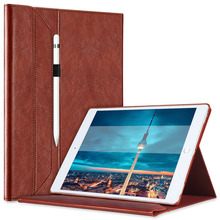 Case For iPad Pro 12.9 leather case Brief Leather Case With Pencil Holder Invisible Stand Wake up/sleep