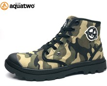 2017 New Military Style Army Green Color Canvas Camouflage Boots for Men Footwear