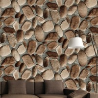 Custom brick pattern factory price 3d wall wallpaper for home decoration
