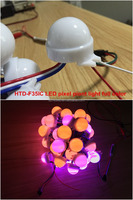 Color changing 3 LEDs SMD5050 RGB full-color 30mm diameter led dot light with lens
