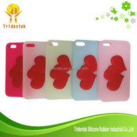 New Design 3D Heart Shaped Silicone Cell Phone Case