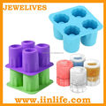 Unique shaped silicone ice cube tray ice shot glass
