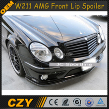 Carbon Fiber Car W211 Front Lip Spoiler For Mercedes Ben z W211 amg
