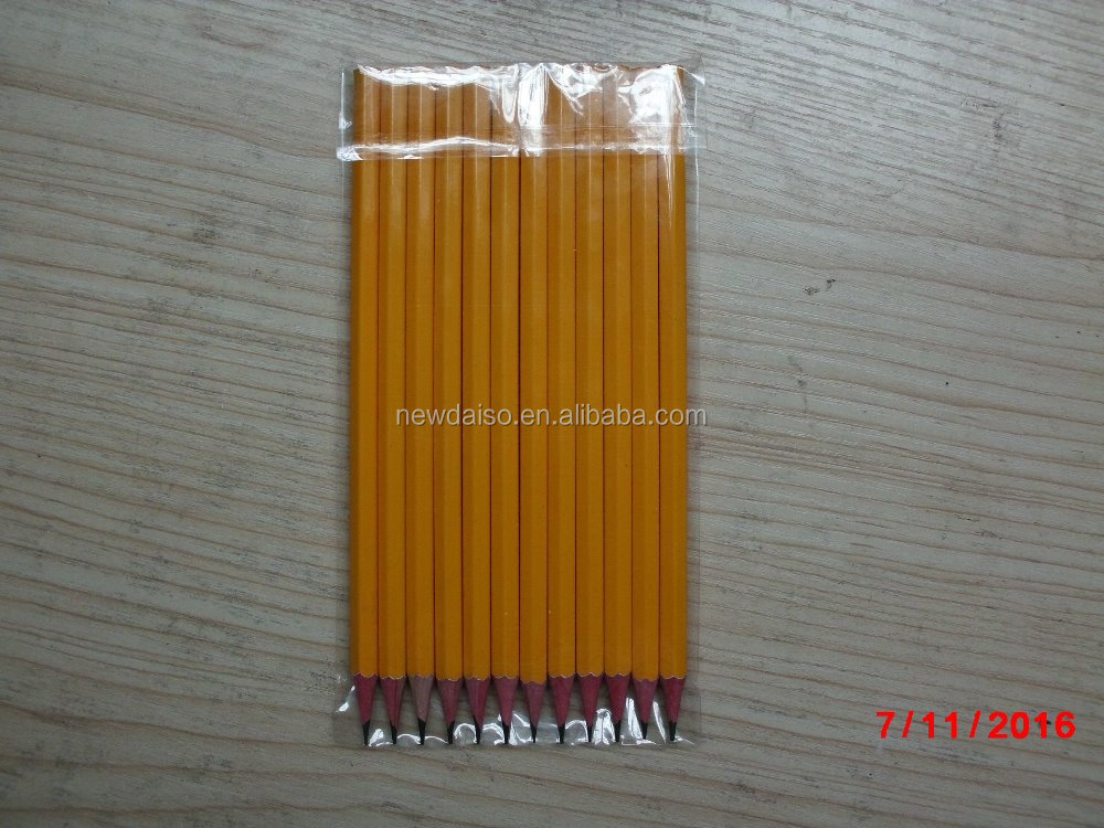HB thin nature wood barrel pencils for school or office