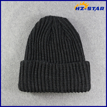 HZM-16366001 european funny winter striped cable knitted hat cap