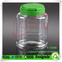1200ml plastic SPA hair care container,40 oz clear plastic hair pomade plastic jar,PET plastic aromatic bottle