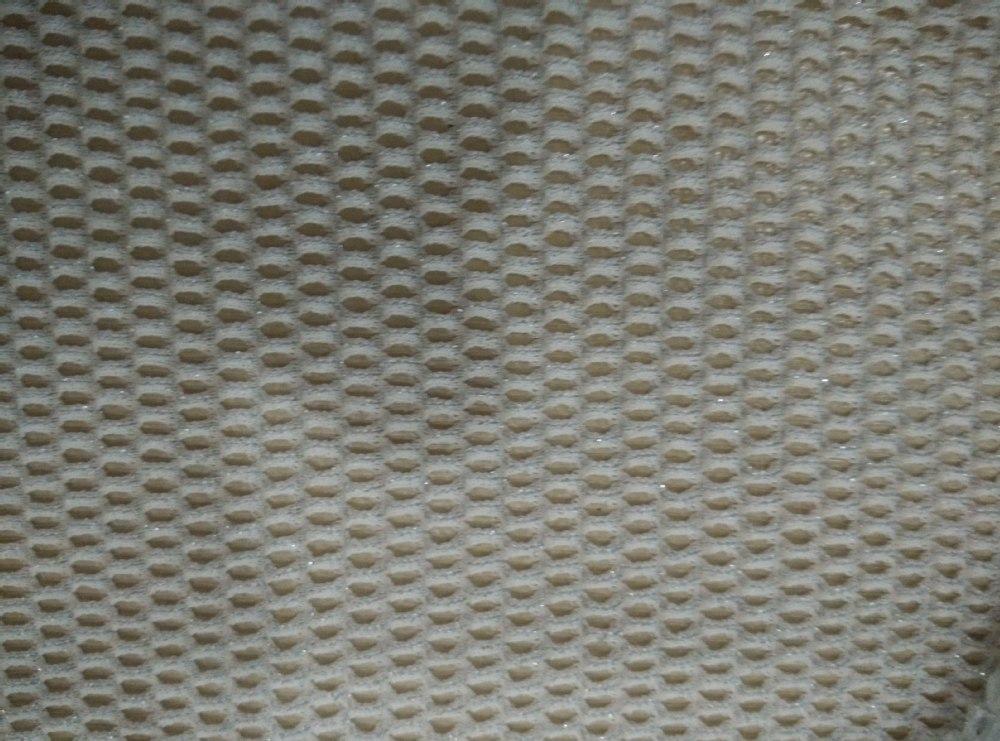 Nylon Spandex Silver Thread Matalic Strong Elastic Mesh