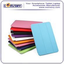 For iPad mini 2 Color leather case with clear back cover