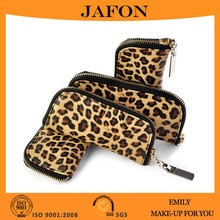 Emily animal print makeup zipper case
