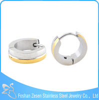 China wholesale stainless steel hoop earrings, colored earring jewelry
