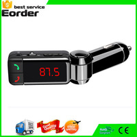 bluetooth car charge Dual USB Auto Bluetooth Car Kit Wireless Hands Free Calling MP3 Player FM Transmitter Modulator+Car Charger