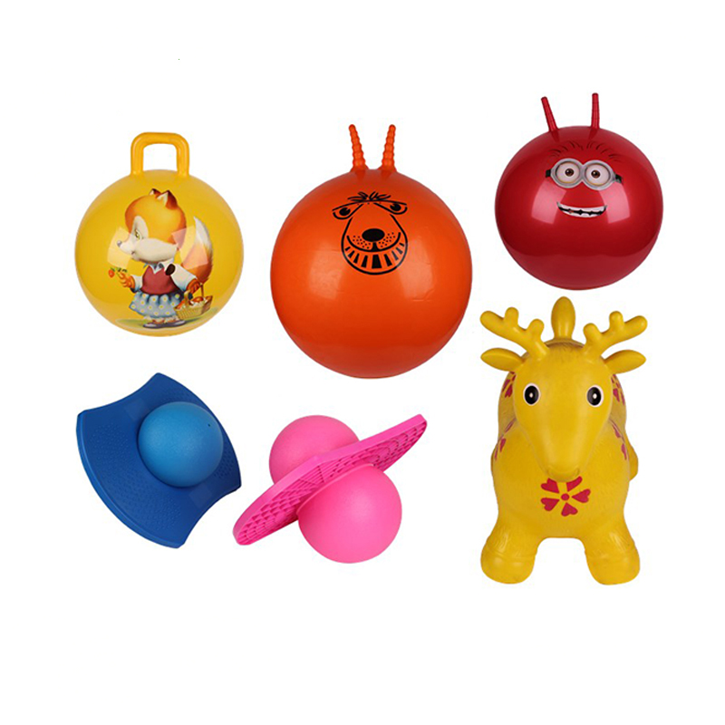 Cute sheep handle jumping ball walmat hopper ball