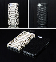 Wholesale Custom Genuine Python Snakeksin Leather Case for Iphone 6 Plus Cover