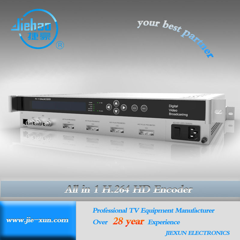 Lowest cost 4in1 IPTV MPEG4/ H.264 Encoder JXDH-6202 H II XM-N