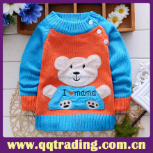 Fancy winter knitting patterns children cartoon wool sweater