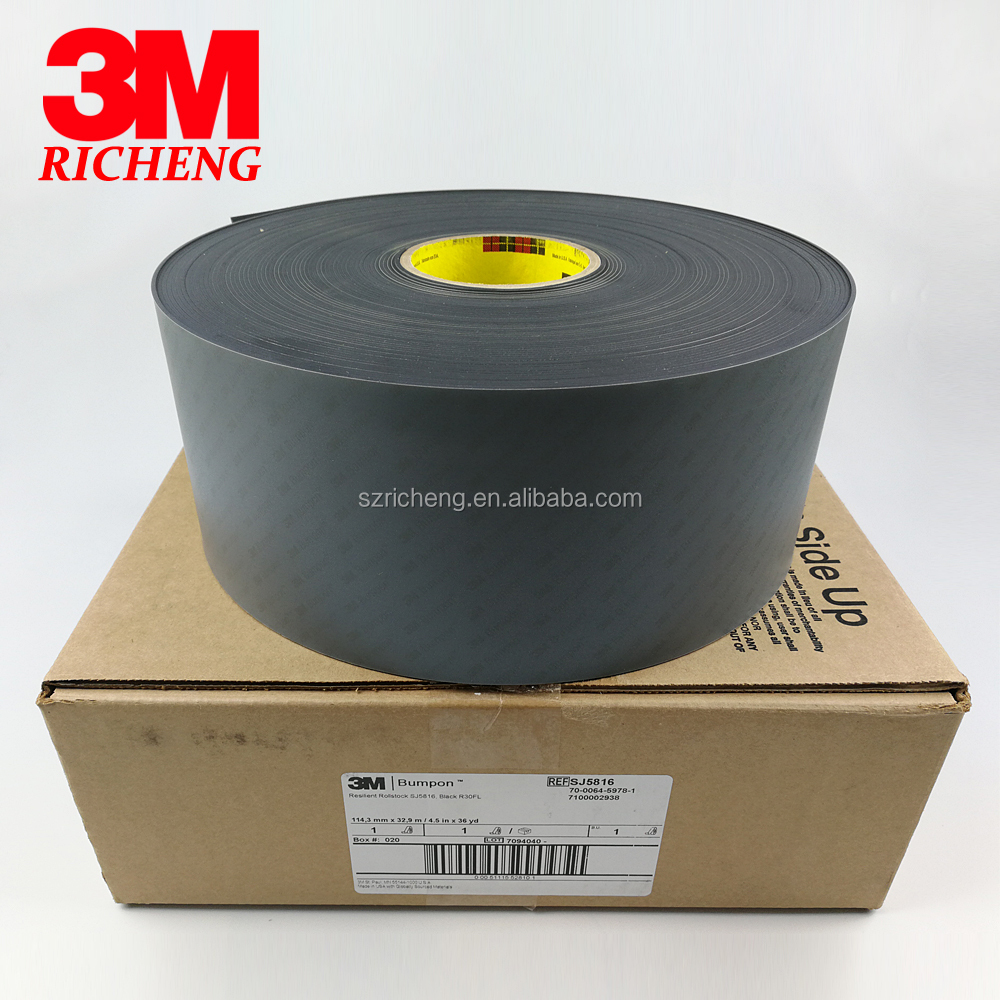 original 3m adhesive backed rubber strips SJ5808(3.2MM) SJ5816(1.6MM) SJ5832(0.8MM), black color