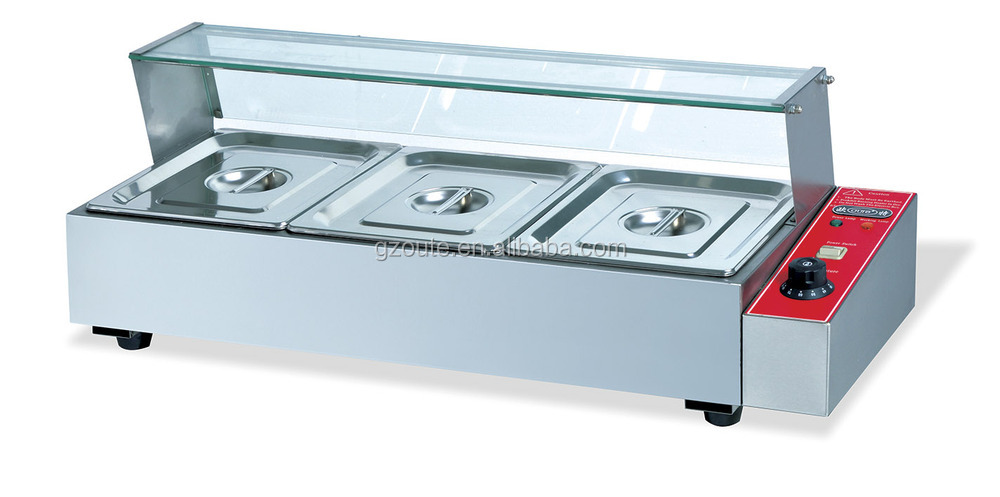 commercial stainless steel table top bain marie food