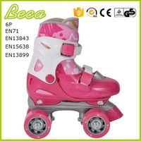 wholesale mix color adjustable pink roller quad skate
