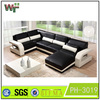 PH-3019 livingroom funiture sectional leather sofa